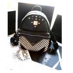 กระเป๋าแฟชั่น MCM 2015 (สีดำปักหมุด) ระบุไซส์ : L
