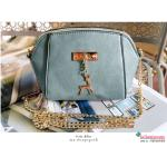 กระเป๋าสะพาย ไซส์มินิน่ารัก สายสะพายโซ่ แต่งอะไหล่รูปกวาง หนังช้างเนื้อสวยมาก