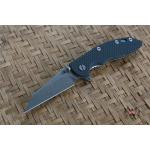"RHK 3.5""Wharncliffe Fatty Green/Black G-10"