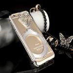 เคสไอโฟน 6-4.7 นิ้ว Shengo ลายเพชร ฝาประกบแหวนเพชร-สีเงิน