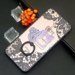 เคสติดแหวนลายขวดน้ำหอม ไอโฟน 6/6s 4.7 นิ้ว-ลายสีชมพูอ่อน