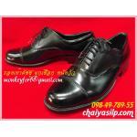 2. รองเท้าคัชชู ผูกเชือก หนังวัว สีดำ