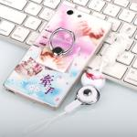 เคส Oppo Joy 5 / Neo 5s ซิลิโคน soft case สกรีลายน่ารักๆ พร้อมแหวานมือถือและสายคล้องเข้าชุดกัน แบบที่ 7