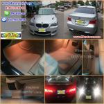 จำหน่ายพรมปูพื้นในรถยนต์เข้ารูปเต็มคัน BMW 520D F10 ลายธนูสีครีมขอบครีม