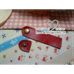 สายคาดหนังวัวแท้ / ตัวปิดปากกระเป๋าหนัง ขนาด 9 x 1.5 cm สีแดง