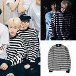 เสื้อแขนยาว เสื้อแฟชั่นเกาหลี BTS JIMIN : สีดำ XL
