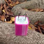 หัวปลั๊กเต๋า Iphone -สีบานเย็น