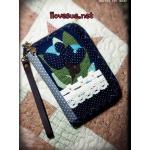 กระเป๋าโทรศัพท์ ซิปรอบ เทคนิค applique - สินค้าสั่งทำ