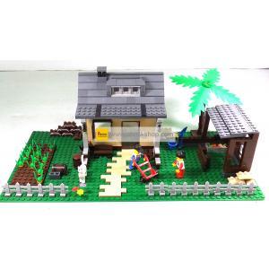ฟาร์ม (Farm) W-34202. ตัวต่อเลโก้จีน ฟาร์มบ้านเหลือง