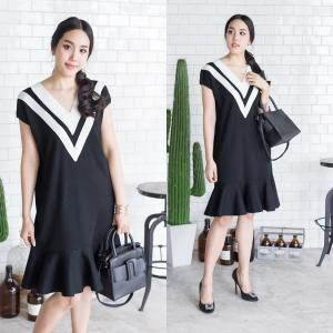B&W Knit Chic Dress
