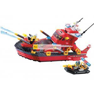 ดับเพลิง (Fire fight) E-906. ตัวต่อเลโก้จีน เรือดับเพลงเล็ก