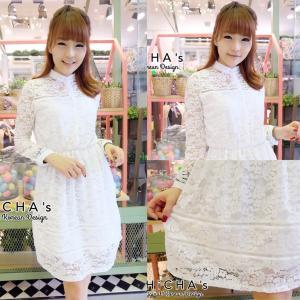 Very Lace Dress เดรสลูกไม้สีขาว