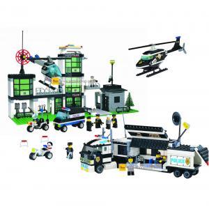 ตำรวจ (police) ENLIGHTEN-ตำรวจ-set 3. ตัวต่อเลโก้จีน สถานีตำรวจ (ชุด 3 กล่อง) ส่งฟรี EMS
