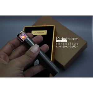 ไฟแช็คไฟฟ้า USB Jobon Smoking set สี ดำ แบบแท่งรีสไลด์