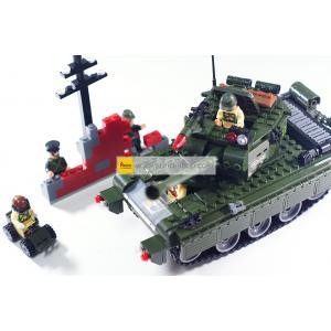 ทหาร (Soldier) E-823. ตัวต่อเลโก้จีน รถถัง