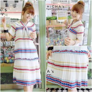 Colory Strip Midi Dress มิดี้เดรสสลับสี