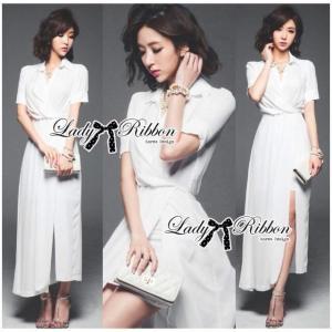 Lady Elizabeth Minimal Chic Wrap Shirt Dress Size S : เดรสเชิ้ตยาวสีขาวสไตล์มินิมัลชิค ขนาด S