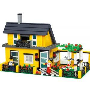 บ้าน (House) W-32051. ตัวต่อเลโก้จีน บ้านเขียว