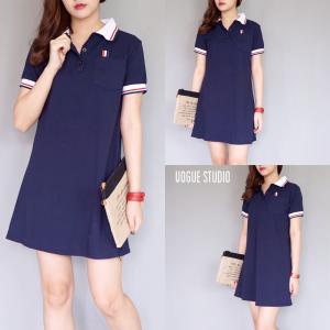 Thom Browne Dress : เดรสโปโลสีน้ำเงิน