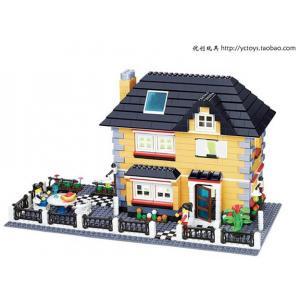 บ้าน (House) W-34051. ตัวต่อเลโก้จีน บ้านม่วง