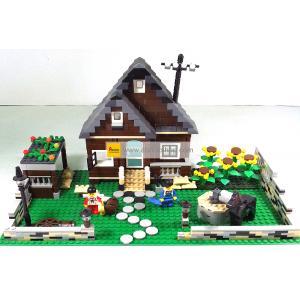 ฟาร์ม (Farm) W-33201. ตัวต่อเลโก้จีน ฟาร์มบ้านน้ำตาล