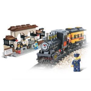 รถไฟ SLUBAN-0235 รถไฟพร้อมสถานี (ใส่ถ่านวิ่งได้) ส่งฟรี EMS