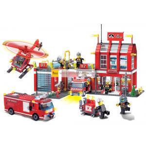 ดับเพลิง (Fire fight) E-911. ตัวต่อเลโก้จีน สถานีดับเพลิง