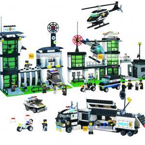 ตำรวจ (police) ENLIGHTEN-ตำรวจ-set 2 ตัวต่อเลโก้จีน สถานีตำรวจ (ชุด 4 กล่อง) ส่งฟรี EMS