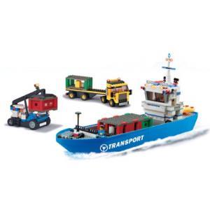 ขนส่ง (Transport) J-5670A. ตัวต่อเลโก้จีน ชุดเรือขนส่งสินค้า