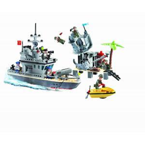 เรือรบ (Warship) E-819. ตัวต่อเลโก้จีน เรือตรวจการเล็ก