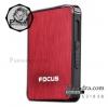 กล่องใส่บุหรี่ Focus เคสอลูมิเนียมอัลลอยด์ พกง่ายสะดวกใช้ สีแดง