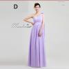 พร้อมส่ง ชุดราตรียาว ชุดเพื่อนเจ้าสาว สีม่วงอ่อน Lavender Lv-002D