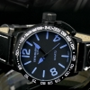 INFANTRY Outdoor Sport Quartz Analog Blue Dial US Army Mens Wrist Watch Black Leather Band Casual New