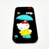 เคสซิลิโคนคิตตี้กางร่ม ไอโฟน 6/6s 4.7 นิ้ว-ดำ