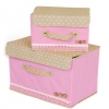 Polka Dot Storage Box - Pink