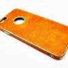 เคสหนังแต่งขอบทอง ไอโฟน 6/6s 4.7 นิ้ว-สีส้ม