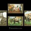 แสตมป์ชุด มหามงคลเฉลิมพระชนมพรรษา 80 พรรษา ชุดที่ 3 - ช้างทรงคู่พระบารมี ปี 2550 (ยังไม่ใช้)