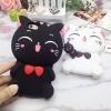 เคสซิลิโคนแมวอ้วน 3D ไอโฟน 7 plus(5.5 นิ้ว)