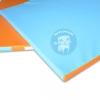 เบาะรองคลาน สีทูโทน ฟ้า-ส้ม ขนาด 1x2 เมตร หนา 1.5 นิ้ว
