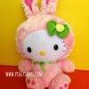 ตุ๊กตาคิตตี้ชุดกระต่าย TY Beanie Baby - HELLO KITTY pink easter bunny ขนนุ่ม