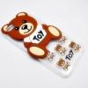 เคสใสแต่งหมี 3d OPPO F1S