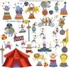 สติ๊กเกอร์ติดผนังห้องเด็กลายคณะละครสัตว์ Roommate Sticker -- Circus