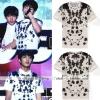 เสื้อยืดสีขาวสกรีนลายจุด แบบ Jungkook