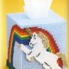 ชุดปักแผ่นเฟรมกล่องทิชชูลายม้า Unicorn