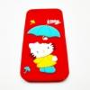 เคสซิลิโคนคิตตี้กางร่ม ไอโฟน 6/6s 4.7 นิ้ว-แดง