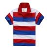 เสื้อคอปกลายขวางแดงน้ำเงิน แพ็ค 4 ชิ้น [size 2y-3y-4y-7y]