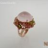 แหวนเิงินโรสควอตซ์(Silver ring rose quartz)