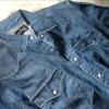 :: เสื้อเชิ้ตยีนส์ ::: Wrangler ::: WL8150 :: คอปกแขนยาวผ้ายีนส์ สีน้ำเงินเข้ม กระดุมมุก size XL :: สวย ใหม่ ของแท้ครับ
