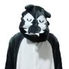 ชุดแฟนซีสัตว์หมาป่าดำ+รองเท้าการ์ตูน