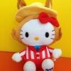 ตุ๊กตาคิตตี้ Ribenyuandan sanrio hello kitty plush doll gift circus style